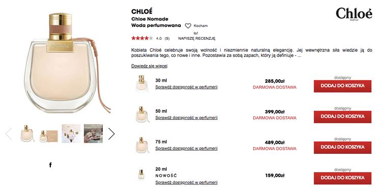 sephora ceny perfum