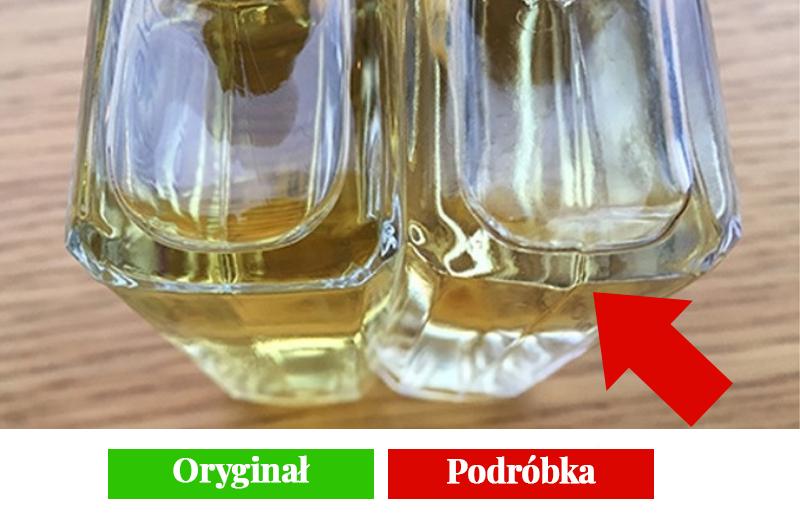 flakon oryginalnych perfum i podróbki